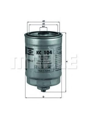 Фильтр топливный VOLVO S60/S80/XC70/XC90 2.5DKC104