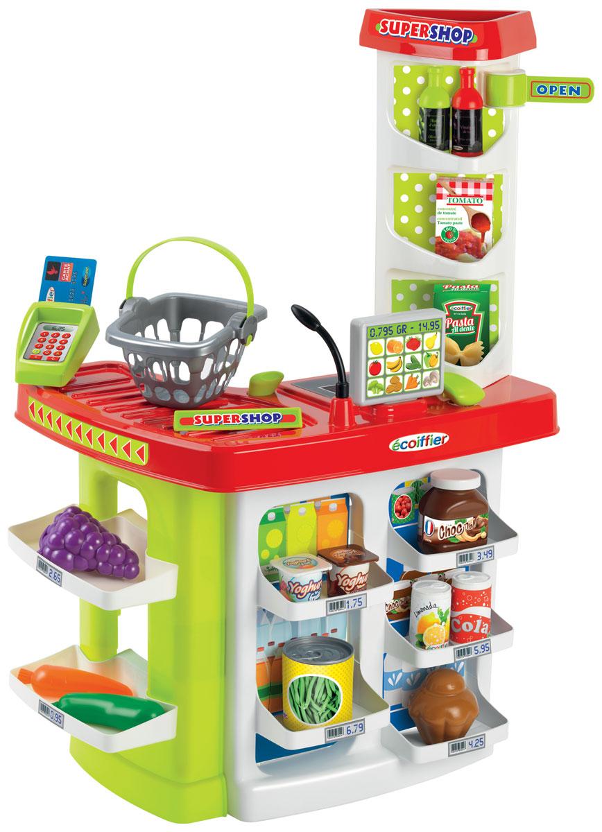 Ecoiffier Игровой набор Супермаркет с корзиной 20 предметов - Сюжетно-ролевые игрушки