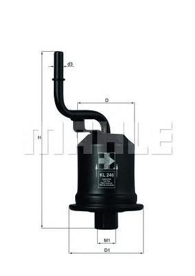 Фильтр топливный TOYOTA: AVENSIS 00-03, AVENSIS LiKL246