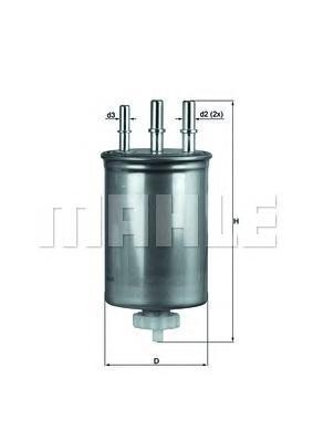 Фильтр топливный SSANGYONG: KYRON 05-, REXTON 04-,KL505