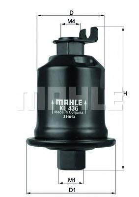 Фильтр топливный MITSUBISHI: CARISMA 95-06, CARISMA седан 96-06KL436