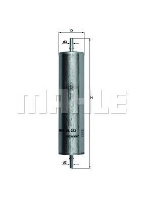 Фильтр топливный LAND ROVER: FREELANDER 2.0TD4 02-KL232