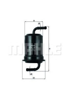 Фильтр топливный MAZDA: 626 V 97-02, 626 V Hatchback 97-02, 626 V Station Wagon 98-02, PROTON: PERSOKL159