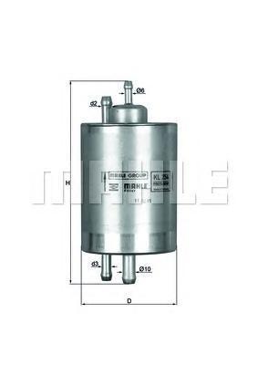 Фильтр топливный MB S-Class W220 09.02-KL254