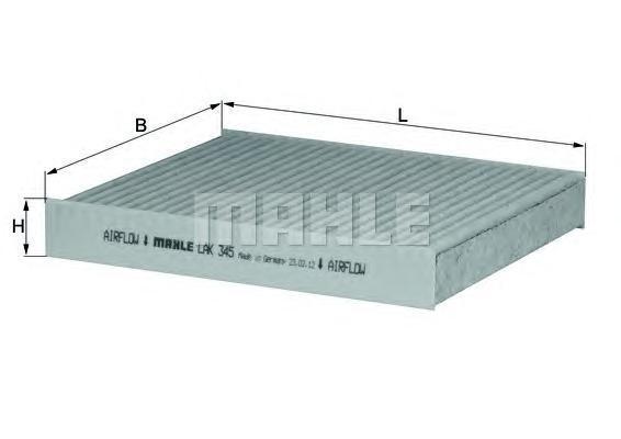 Фильтр салона (угольный) SubaruLAK345