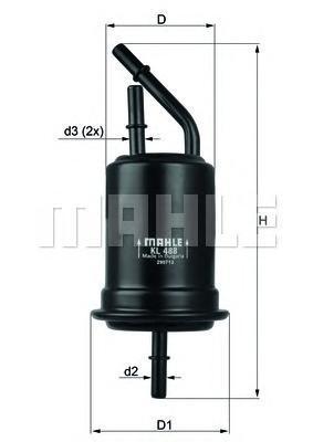 Фильтр топливный KIA Rio 1.3-1.6 16V 00>KL488