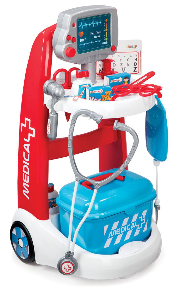 Smoby Игровой набор Электронная медицинская тележка - Сюжетно-ролевые игрушки