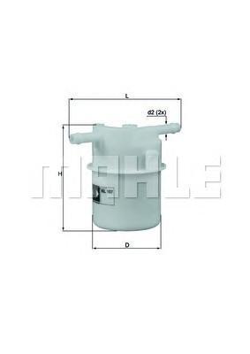 Фильтр топливный Honda, KIA, ROVER KL107KL107