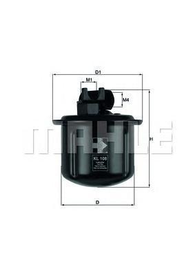 Фильтр топливный HONDA: ACCORD IV 90-93, ACCORD IVKL108