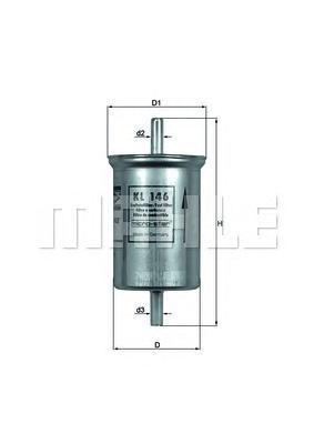 Фильтр топливный HYUNDAI: SANTA FE 01-, TRAJET 00-, KIA: MAGENTIS 05-, RENAULT: MEGANE Coach 96-, MEKL146