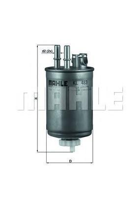 Фильтр топливный FORD: FIESTA IV 00-02, FIESTA фурKL483