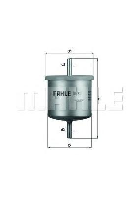 Фильтр топливный FORD MONDEO 1.6-2.0 16V/ESCORTKL61