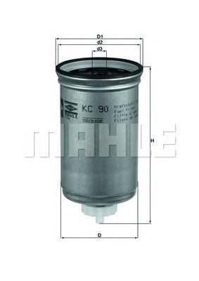Фильтр топливный FORD Transit 2,5D/TD / 84-97KC90