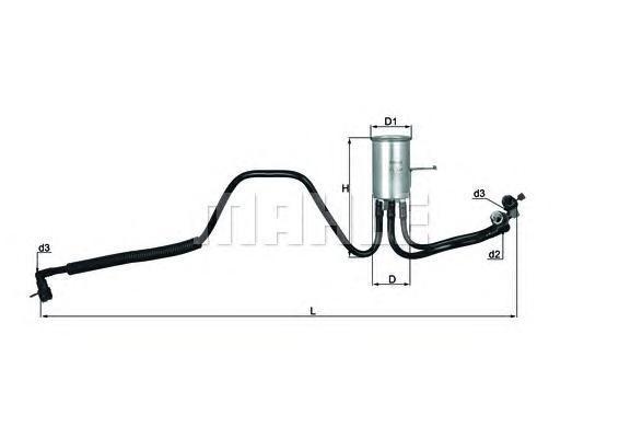Фильтр топливный Dodge, PlymouthKL544