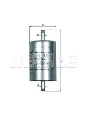 Фильтр топливный FIAT: ELBA 92-96, FIORINO 88-93KL86