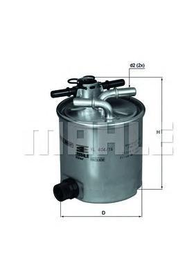 Фильтр Топливный DACIA: LOGAN 05-, LOGAN MCV 07- DKL40416