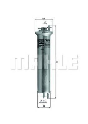 Фильтр топливный BMW E39/E38/X5KL96