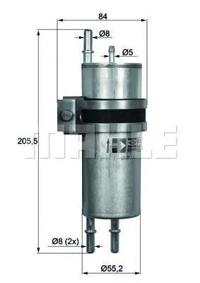 Фильтр топливный BMW E65/E66 6.0 LKLH11