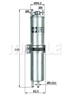 Фильтр топливный BMW 730,735,740 E65 2001=>KLH12