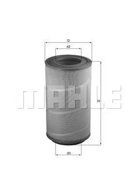 Фильтр воздушный DAF LX1025 DAFLX1025