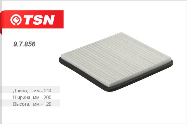Фильтр салона пылевой CHEVROLET Spark 1.0 1.2 10-97856