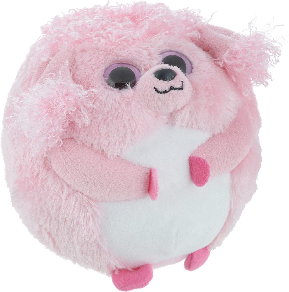 TY Мягкая игрушка Пудель Lovey цвет розовый 10 см