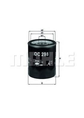Фильтр масляный LAND ROVER: DISCOVERY 2.5TDI 99- ROC298