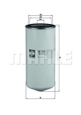 Фильтр масляный DAF OC234 DAFOC234