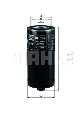 Фильтр масляный DAF 85-/93-OC382