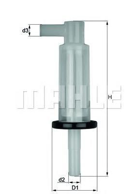 Фильтр топливный MB W123/W124/W463/T1/SSANGYONG MUKL33OF