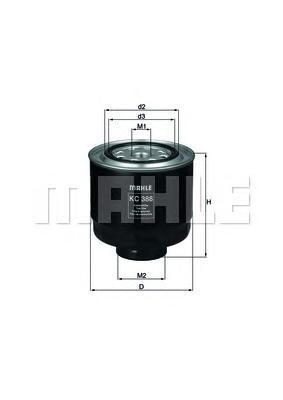 Фильтр топливный MITSUBISHI L200 2.5DI-D 2005=>KC388D