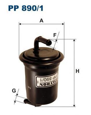 Фильтр топливный Mazda 626 (97-02) (GF/GW)PP8901