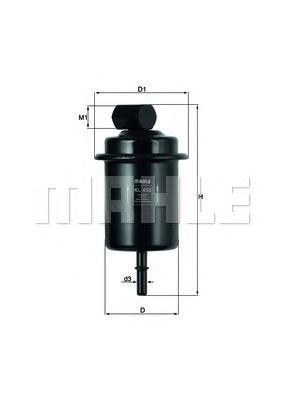 Фильтр топливный HYUNDAI: ATOS 04-, ATOS PRIME 03-KL453