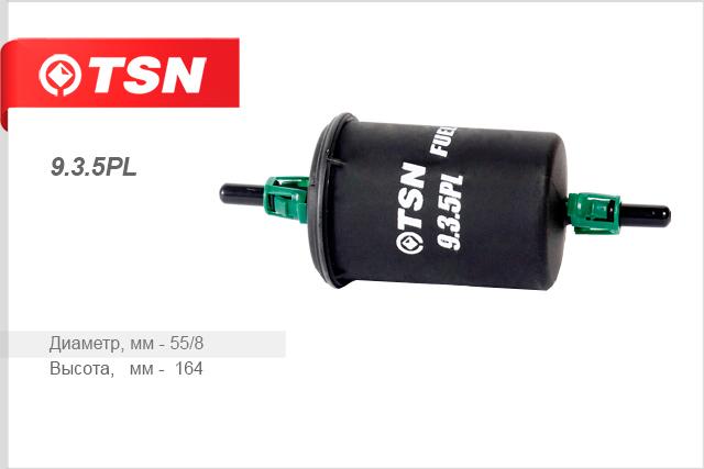 Купить Фильтр топливный TSN , штуцер с клипсами, на ВАЗ 2104-07, 2108-09, 2110-15, 1117-18, Калина 2170, Приора, Niva, CHEVROLET 2123