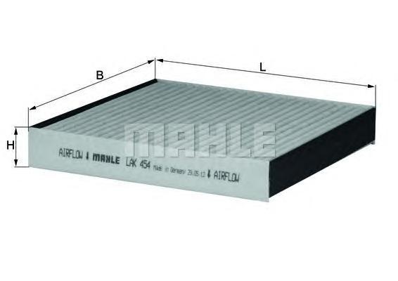Фильтр салона (угольный)JAGUAR XF 08->LAK454