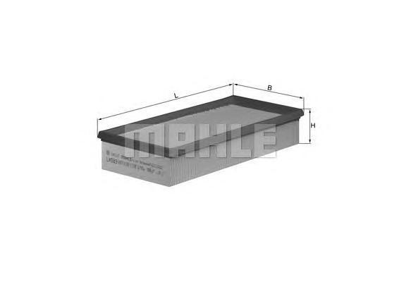 Фильтр воздушный FORD TRANSIT 2.5D/TD 91-00LX583