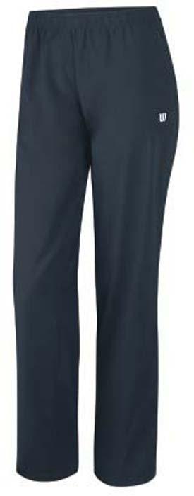 Брюки для тенниса женские Wilson Rush Woven, цвет: темно-серый. WRA725001. Размер S (44)WRA725001Женские брюки для тенниса Wilson «Rush Woven» подарят вам особенный комфорт до и после матча. Модель изготовлена из полиэстера. Брюки стильного дизайна не сковывают свободу движений. Широкий эластичный пояс отвечает за идеальную посадку. Модель идеальна для занятий теннисом.
