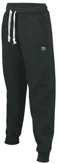 Брюки для тенниса мужские Wilson Cotton Pant, цвет: черный. WRA740103. Размер XXL (58)WRA740103Мужские брюки для тенниса Wilson «Cotton Pant» подарят вам особенный комфорт до и после матча. Модель изготовлена из хлопка и полиэстера. Брюки стильного дизайна не сковывают свободу движений. Широкий эластичный пояс на шнуровке отвечает за идеальную посадку. Брюки снабжены втачными карманами. Модель идеальна для занятий теннисом.
