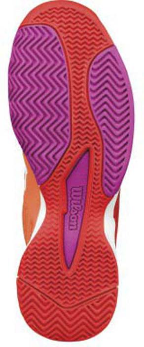Кроссовки для тенниса женские Wilson Rush Evo W Nasturtium, цвет:  оранжевый.  WRS322270.  Размер 4 (36) Wilson