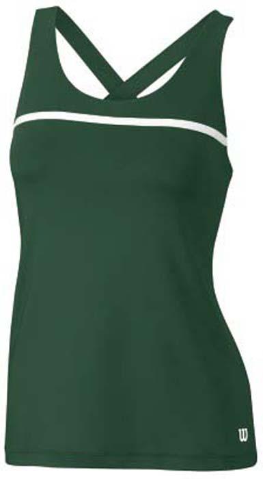 Майка для тенниса женская Wilson Rush Color Inset Tank Forest, цвет: зеленый. WRA724605. Размер S (44)WRA724605Стильная женская майка для тенниса Wilson Rush Color Inset Tank Forest, выполненная из полиэстера сдобавлением спандекса, обладает высокой теплопроводностью, воздухопроницаемостью игигроскопичностью и великолепно отводит влагу, оставляя тело сухим даже во времяинтенсивных тренировок.Модель с круглым вырезом горловины и бретельками, переплетающимися на спинке - идеальныйвариант для занятий спортом. Такая майка обеспечит свободу движений.Эргономичные швы минимизируют натирание кожи, исключая дискомфорт.Такая майка подарит вам комфорт в течение всей игры и послужит замечательным дополнениемк вашему гардеробу.