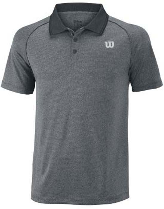 Поло для тенниса мужское Wilson Core Polo, цвет: серый. WRA746503. Размер M (50)WRA746503Стильная мужская футболка для тенниса Wilson Core Polo, выполненная из качественного материала, обладает высокой теплопроводностью, воздухопроницаемостью игигроскопичностью и великолепно отводит влагу, оставляя тело сухим даже вовремя интенсивных тренировок. Такая футболка превосходно подойдет длязанятий спортом и активного отдыха.Модель с короткими рукавами и отложным воротником - идеальный вариантдля занятий спортом. Такая футболка обеспечит свободу движений.Дополнительная вентиляция предусмотрена для лучшего воздухообмена.Эргономичные швы минимизируют натирание кожи, исключая дискомфорт. Сверху футболка застегивается на две пластиковые пуговицы.Такая футболка подарит вам комфорт в течение всей игры и послужит замечательным дополнением к вашему гардеробу.
