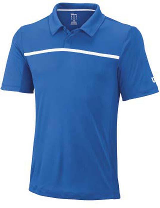 Поло для тенниса мужское Wilson Rush Color Inset, цвет: синий. WRA725302. Размер S (46)WRA725302Стильная мужская футболка для тенниса Wilson Rush Color Inset, выполненная из качественного материала, обладает высокой теплопроводностью, воздухопроницаемостью игигроскопичностью и великолепно отводит влагу, оставляя тело сухим даже вовремя интенсивных тренировок. Такая футболка превосходно подойдет длязанятий спортом и активного отдыха.Модель с короткими рукавами и отложным воротником - идеальный вариантдля занятий спортом. Такая футболка обеспечит свободу движений.Дополнительная вентиляция предусмотрена для лучшего воздухообмена.Эргономичные швы минимизируют натирание кожи, исключая дискомфорт. Сверху футболка застегивается на две пластиковые пуговицы.Такая футболка подарит вам комфорт в течение всей игры и послужит замечательным дополнением к вашему гардеробу.