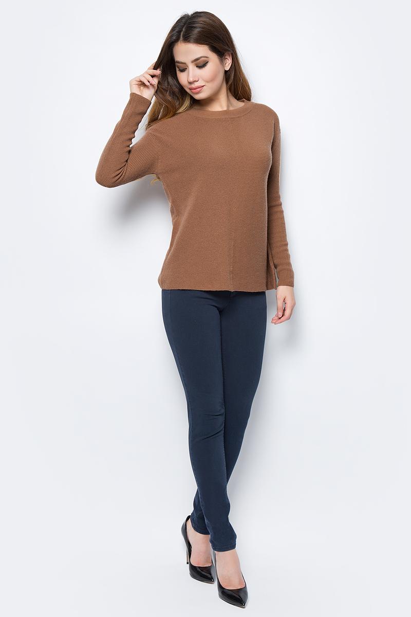 Джемпер женский United Colors of Benetton, цвет: светло-коричневый. 1040D1D35_1B5. Размер XS (40/42)1040D1D35_1B5Джемпер женский United Colors of Benetton выполнен из качественного материала. Модель с круглым вырезом горловины и длинными рукавами.