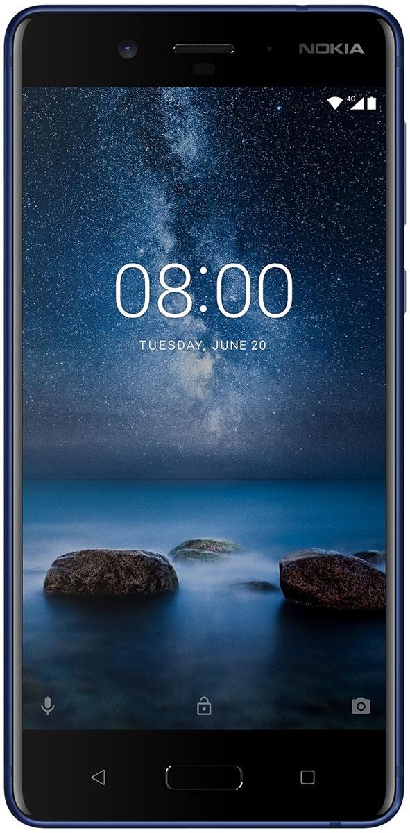 Nokia 8 DS, Tempered Blue11NB1L01A17Процесс изготовления металлического корпуса Nokia 8 состоит из 40 этапов, включая тщательную выточку из цельного куска алюминия, анодирование и полировку. Благодаря безукоризненной моноблочной конструкции Nokia 8 идеально лежит в руке.Уникальная функция двусторонней съемки позволяет одновременно использовать фронтальную и основную камеру, отображая на экране сразу два фото или видео.В телефоне есть встроенная функция потоковой передачи видео прямо в Facebook Live и YouTube Live. Одним касанием делитесь своим творчеством со всем миром.Nokia 8 оснащается основной двойной камерой 13 Мпикс с цветным и монохромным сенсорами, которая обеспечивает слияние двух изображений, а также широкоугольной фронтальной камерой 13 Мпикс с фазовым автофокусом. В обеих камерах использованы объективы ZEISS, так что каждый ваш снимок может стать шедевром.Это первый телефон со встроенной поддержкой технологии объемного 360° звука Nokia OZO, позволяющий записывать реалистичное видео с 3D звуком и наслаждаться безукоризненным воспроизведением. Записывайте лучшие моменты в мельчайших деталях с помощью настоящих голливудских технологий — качество видео и звука превзойдет все ваши ожидания.Ваши творения заслуживают, чтобы их увидели в наилучшем качестве Поляризованный 2К дисплей с диагональю 5,3 дюйма обеспечивает яркие, насыщенные цвета и высочайшую четкость. Снимайте захватывающие видео с объемным звуком Nokia OZO, которые хочется смотреть снова и снова.В Nokia 8 используется передовая мобильная платформа Qualcomm Snapdragon 835, обеспечивающая невероятно длительную работу от аккумулятора. Кроме того, мы оснастили смартфон передовой системой охлаждения, в основе которой медная трубка с графитовым экраном для равномерного распределения тепла по всему корпусу телефона.Nokia 8 поставляется с чистой операционной системой Android Nougat 7.1.1 и всеми сервисами Google без лишних дополнений и оболочек. Благодаря регулярным обновлениям обеспечивается высокий уровень