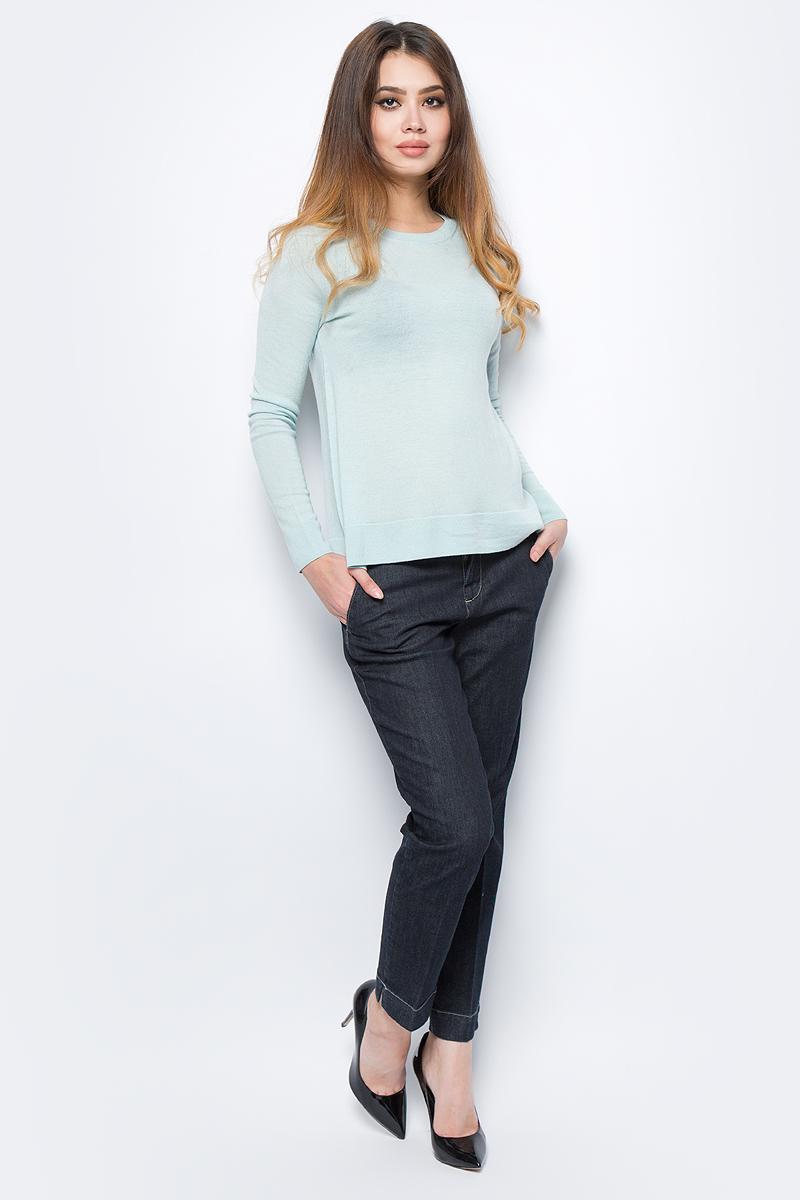 Джемпер женский United Colors of Benetton, цвет: бирюзовый. 16PDD1E25_17H. Размер S (42/44)16PDD1E25_17HДжемпер женский United Colors of Benetton выполнен из качественного материала. Модель с круглым вырезом горловины и длинными рукавами.
