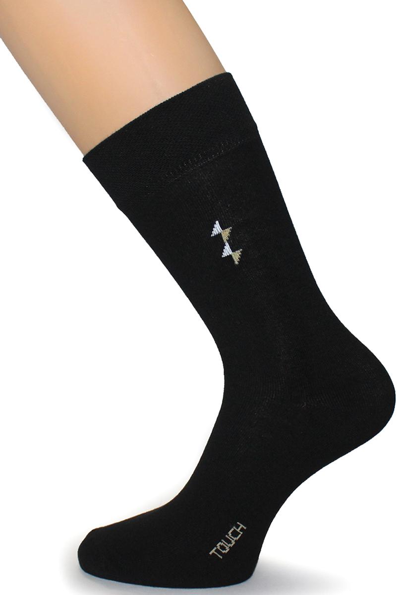 Носки мужские Touch Gold, цвет: черный. 028. Размер 27/29028Мужские носки выполнены из качественного материала. Носки универсальны их можно носить в любое место и круглый год.