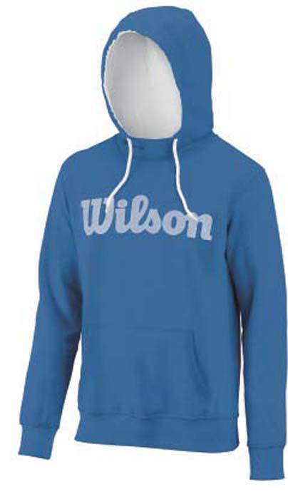 Худи для тенниса мужское Wilson Script Cotton Po Hoody, цвет: синий. WRA747901. Размер L (52)WRA747901Худи для тенниса Wilson Script Cotton Po Hoody выполнено из быстросохнущего мягкого материала. Ткань быстро и эффективно отводит влагу с поверхности кожи, поддерживая комфортный микроклимат. Худи с капюшоном и длинными рукавами оформлено надписью бренда.