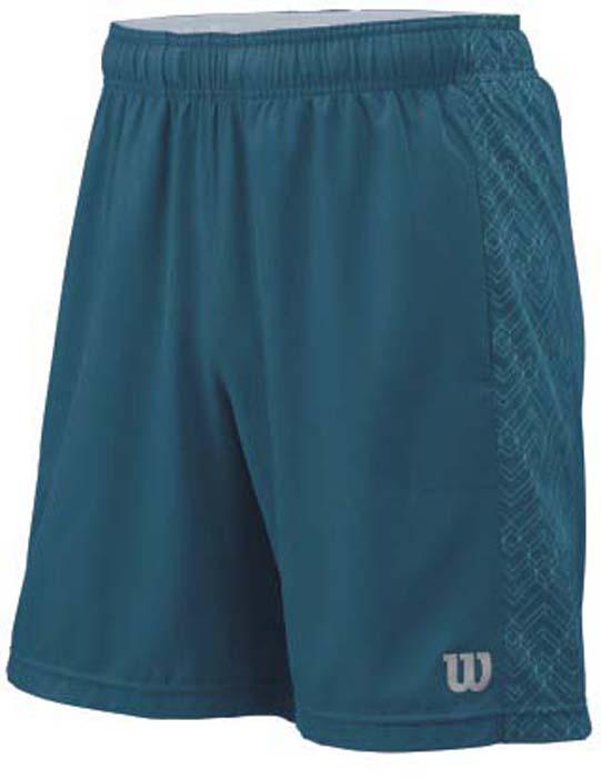 Шорты для тенниса мужские Wilson FW Raz 8 Short, цвет: бирюзовый. WRA760702. Размер M (50)WRA760702Мужские шорты для тенниса Wilson FW Raz 8 Short - это незаменимый атрибут в гардеробе любого спортсмена. Стильные удобные шортывыполнены из качественного материала, благодаря чему превосходно сидят, не стесняют движений и великолепно отводят влагу, оставляя тело сухим даже во время интенсивных тренировок.Модель дополнена широкой эластичной резинкой на талии.Устремляясь за очередным укороченным ударом и высоким мячом, используйте всю силу ног, а легкие шорты помогут вам в этом: они подаряткомфорт и полную свободу движений. Эти модные шорты послужат отличным дополнением к вашему спортивному гардеробу. В них вы всегдабудете чувствовать себя уверенно и комфортно.