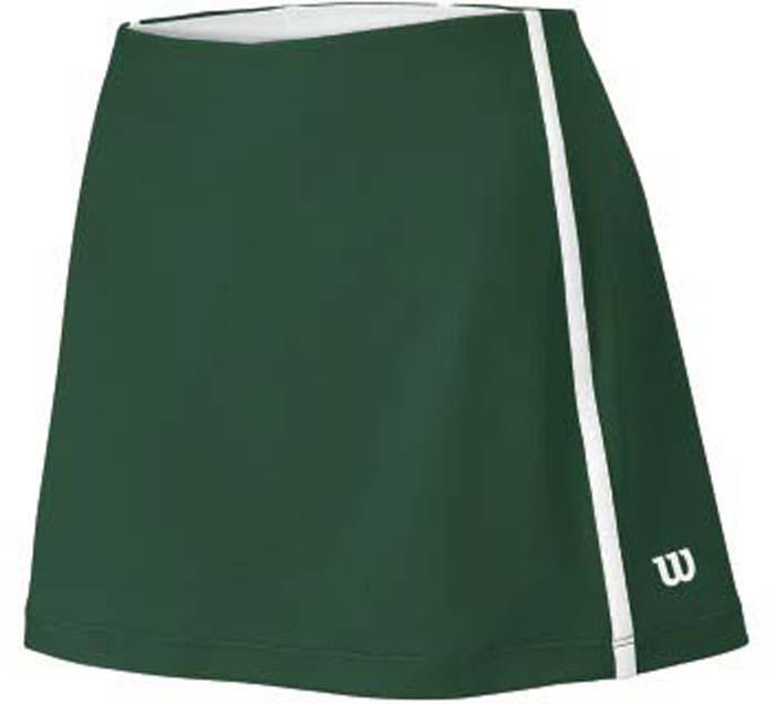 Юбка для тенниса женская Wilson Rush Color Inset Forest, цвет: зеленый. WRA724705. Размер L (48)WRA724705Теннисная юбка Wilson «Rush Color Inset Forest» создает женственный образ. Модель, изготовленная из полиэстера и спандекса, невероятно легкая приятная на ощупь, не сковывает движения, обеспечивая комфорт. Эластичный пояс выгодно подчеркивает фигуру и обеспечивает надежную посадку. Модель идеальна для занятий теннисом.