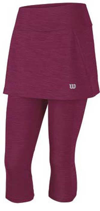 Юбка для тенниса женская Wilson Rush II Para, цвет: розовый. WRA744703. Размер M (46)WRA744703Теннисная юбка Wilson « Rush II Para» с бриджами, станет незаменимой вещью для занятий большим теннисом или любыми другими видами спорта.Модель, изготовленная из полиэстера и спандекса, невероятно легкая приятная на ощупь, не сковывает движения, обеспечивая комфорт. Эластичный пояс выгодно подчеркивает фигуру и обеспечивает надежную посадку. Модель идеальна для занятий теннисом.